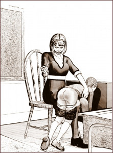 Fessé en classe sepia (3)