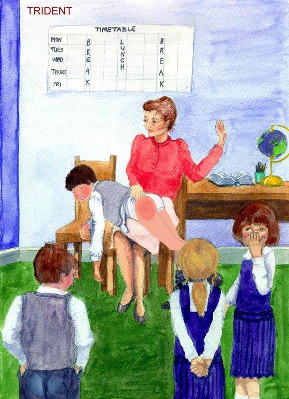 spanking naughty boy