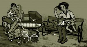 Illust.  par l'artiste Tua - La 1re fessée déculottée pour Chloé