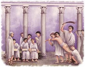 Pompéi fresque -col