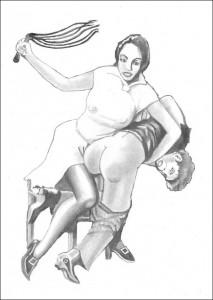 Dame au martinet